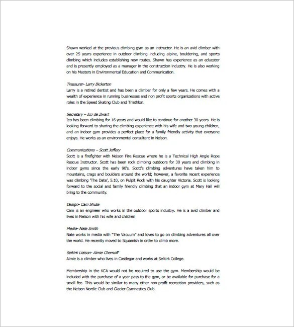 Gym Business Plan Template - 13+ Free Sample, Example, Format - sample small business plans