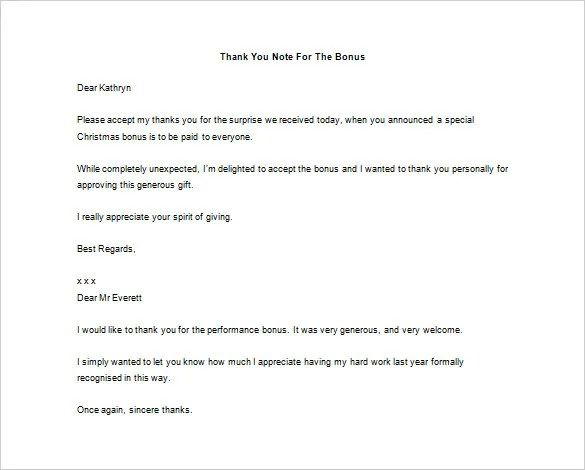 Thank You Letter to Boss - 9+ Free Word, Excel, PDF Format Download