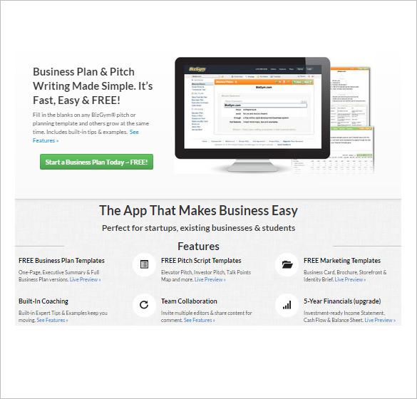 Business plan maker app