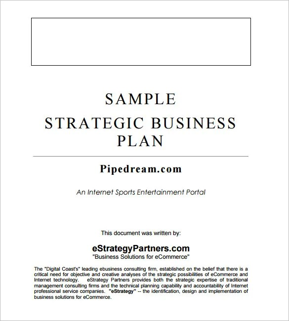 Strategic Business Plan Template - 9+ Free Word Documents Download - sample business plans