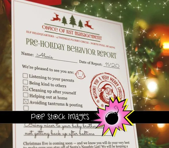 12+ Report Card Templates u2013 Free Sample, Example, Format Download - christmas list format