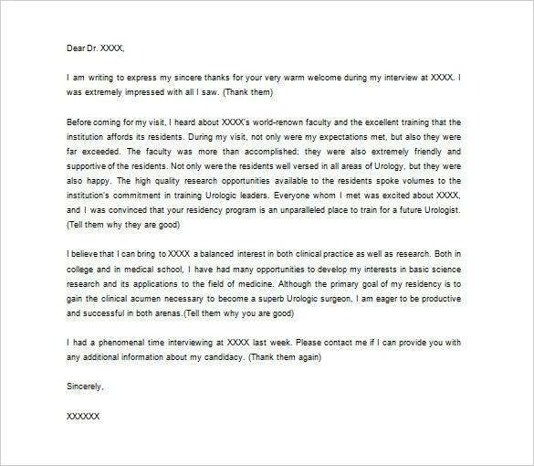 Medical Thank You Letter \u2013 9+ Free Word, Excel, PDF Format Download