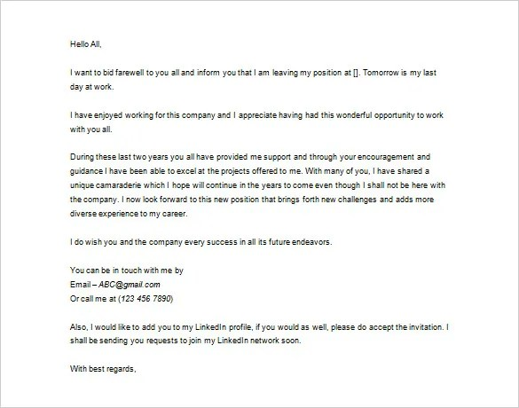 Thank You Letter To Boss Leaving Job – Job Leaving Letter