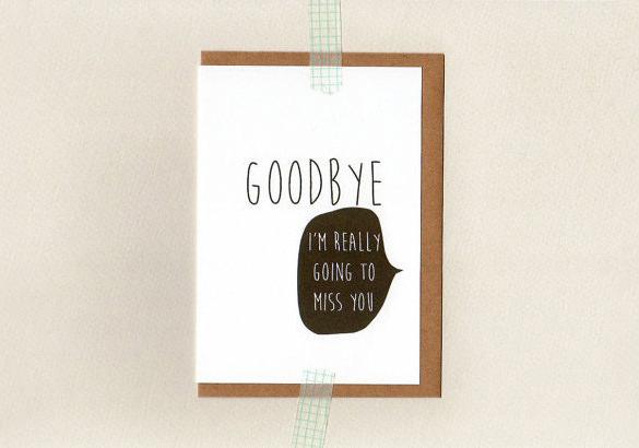 Farewell Card Template \u2013 18+ Free Printable Sample, Example, Format - printable goodbye cards
