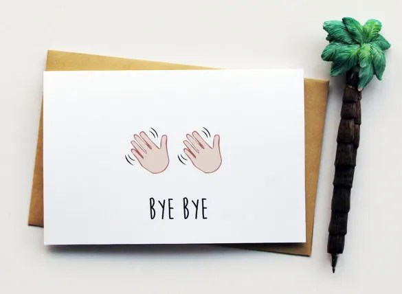Farewell Card Template 18 Free Printable Sample