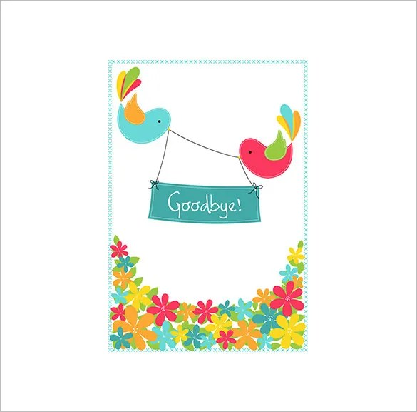 Farewell Card Template \u2013 18+ Free Printable Sample, Example, Format