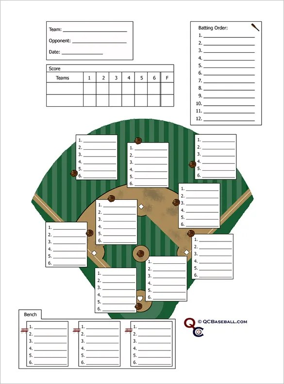 10+ Baseball Line Up Card Templates - DOC, PDF Free  Premium