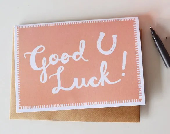 Good Luck Cards To Print oakandale