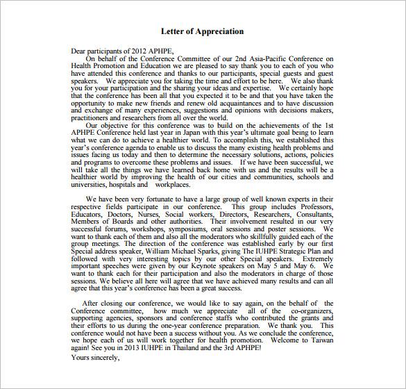 11+ Thank You Letter For Appreciation - PDF, DOC Free  Premium