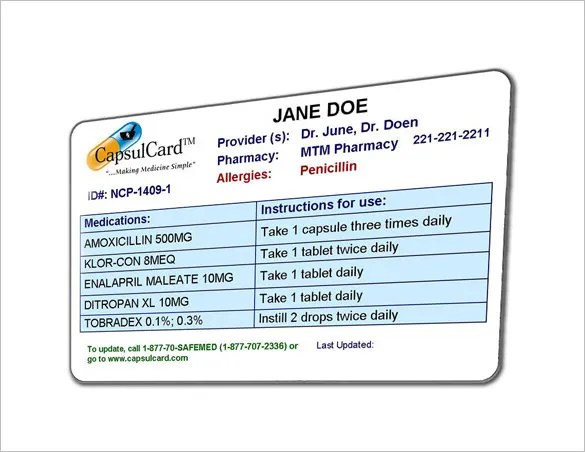 medication cards for patients - Intoanysearch - sample appointment card template