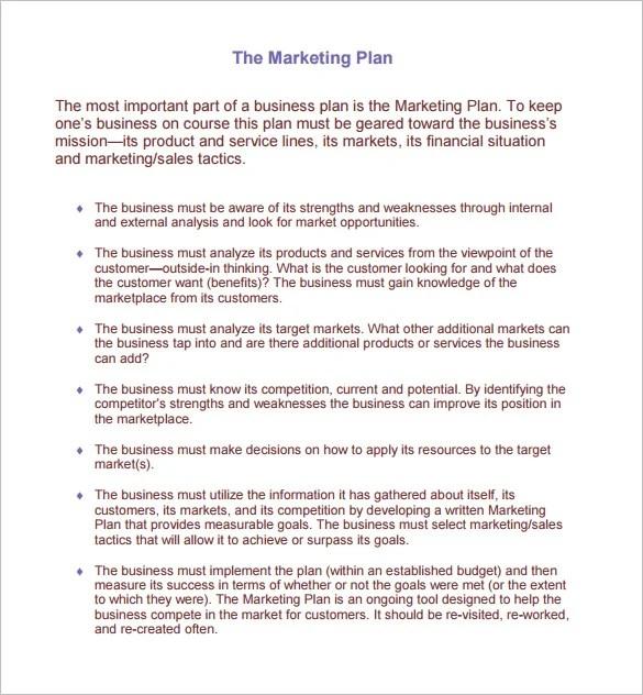 Marketing Plan Template - 65+ Free Word, Excel, PDF Format Download - marketing plan pdf