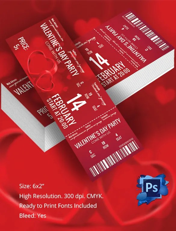 s day tickets templates - Towerssconstruction