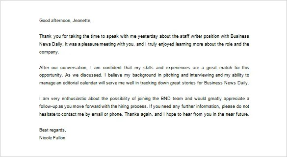 Sample Thank You Email Sample-Thank-You-Email-Template-After-A - writing post interview thank you letters