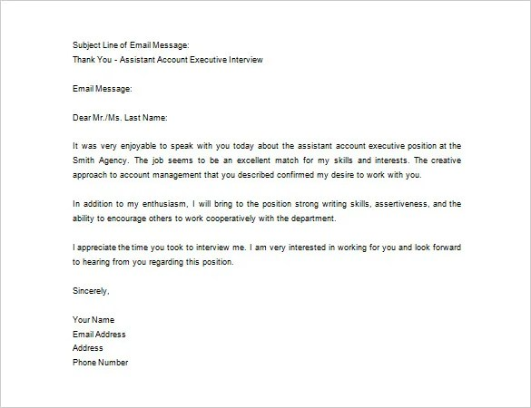 thank you letter sample after job interview - Onwebioinnovate