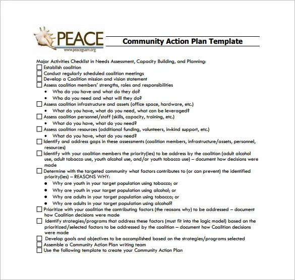 Globalchangegov Project Action Plan Template – 10 Free Word Excel Pdf