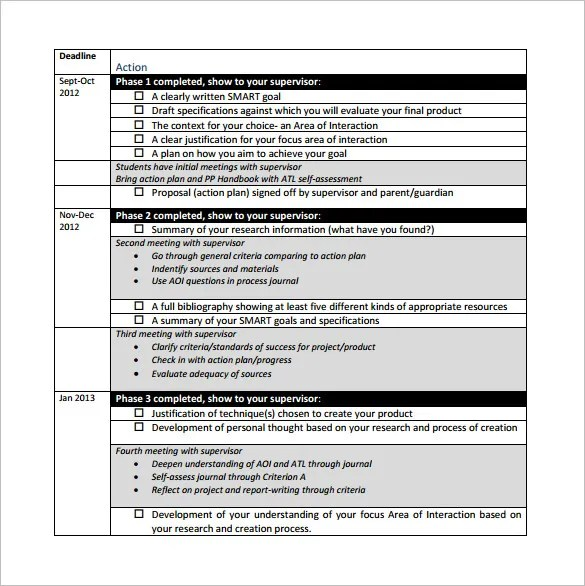Project Action Plan Template - 15+ Free Word, Excel, PDF Format - personal action plan template