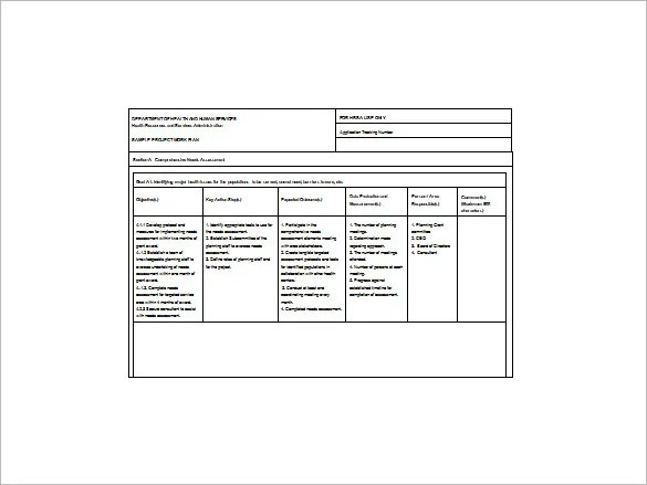 Project Action Plan Template - 15+ Free Word, Excel, PDF Format