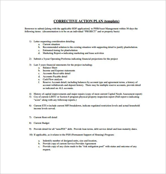 Project Action Plan Template u2013 10+ Free Word, Excel, PDF Format - project plan templates word