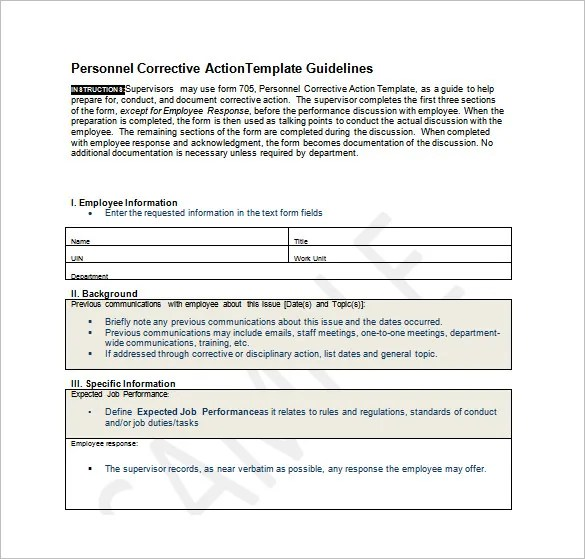 Employee Action Plan Template - 12+ Free Word, Excel, PDF Format - employee info form