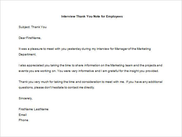 11+ Thank You Letter To Employee - PDF, DOC Free  Premium Templates