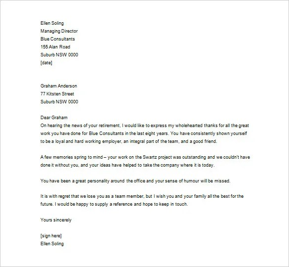 Thank You Letter To Employee \u2013 12+ Free Sample, Example Format