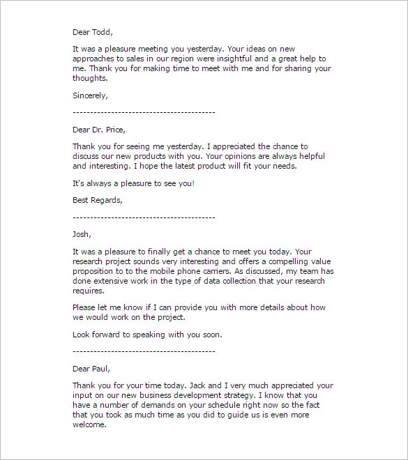 Business Thank You Letter \u2013 11+ Free Sample, Example Format Download - business thank you letter samples