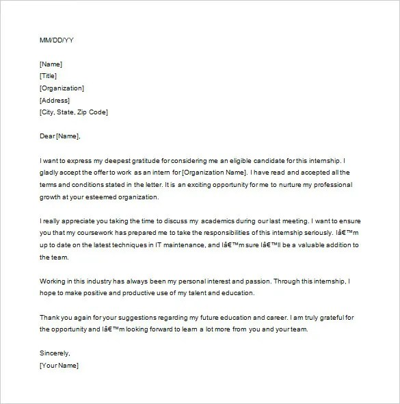 14+ Internship Thank You Letter Templates - PDF, DOC Free