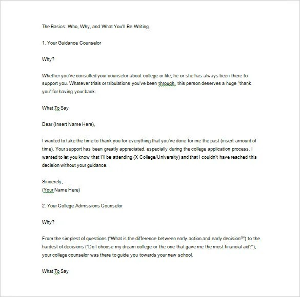 Thank You Letter For Recommendation \u2013 9+ Free Sample, Example Format - thank you letters for references and recommendations
