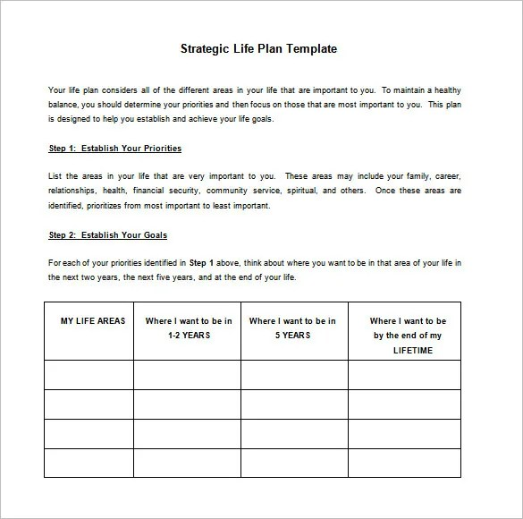 Strategic Action Plan Template \u2013 8+ Free Word, Excel, PDF Format - action plan templates word