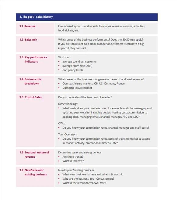 Sales Plan in PDF - compensation plan template