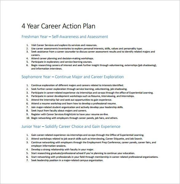 12+ Career Action Plan Templates - DOC, PDF, Excel Free  Premium