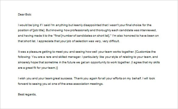 Thank You Letter to Recruiter u2013 10+ Free Sample, Example Format - thank you email after job offer