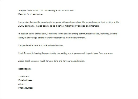 Thank You Letter to Recruiter u2013 10+ Free Sample, Example Format - thank you letter after interviews