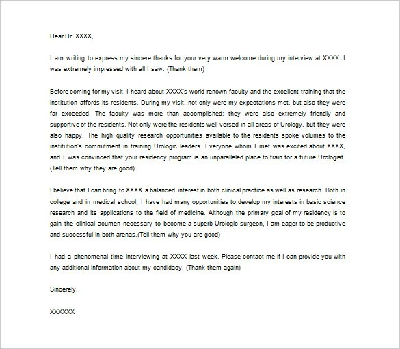 Medical Thank You Letter u2013 10+ Free Sample, Example Format - medical assistant thank you letter