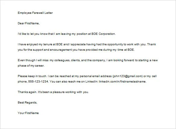 Job Thank You Letters u2013 9+ Free Sample, Example Format Download - thank you note to employee