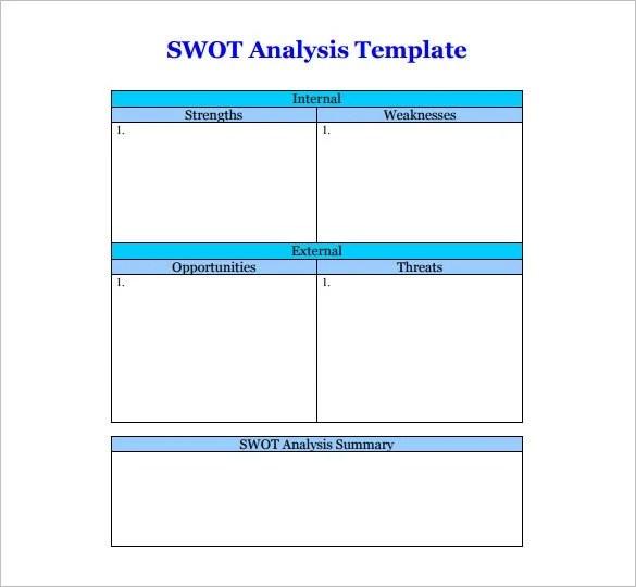 Swot Template Doc - Mucotadkanews50+ swot analysis template - free
