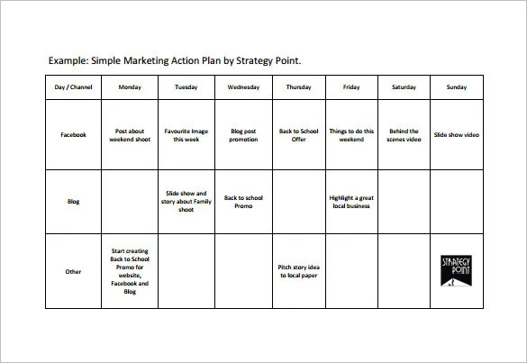 Simple Action Plan Template - 16+ Free Sample, Example, Format - marketing action plan template