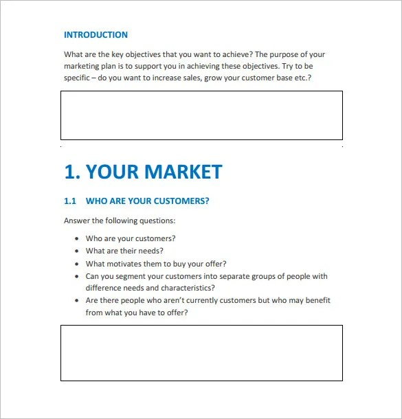 Marketing Action Plan Template \u2013 9+ Free Sample, Example, Format