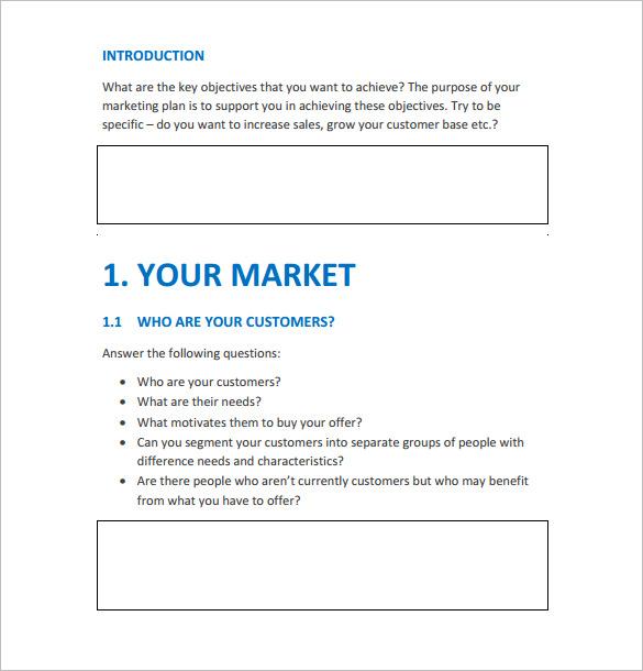Doc#680716 Marketing Action Plan Template u2013 Marketing Action - marketing action plan template