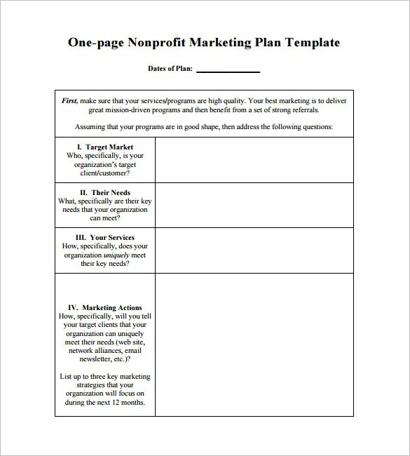 marketing action plan template - Ozilalmanoof - Example Of An Action Plan Template