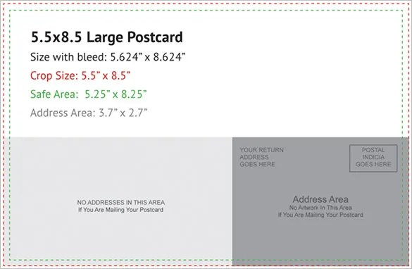 Postcard Template - 47+ Free Printable Word, Excel, PDF, PSD - Microsoft Word Postcard Template