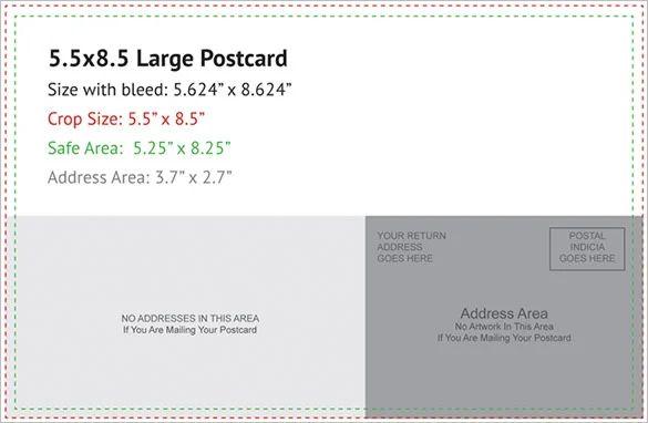 5x7 postcard templates