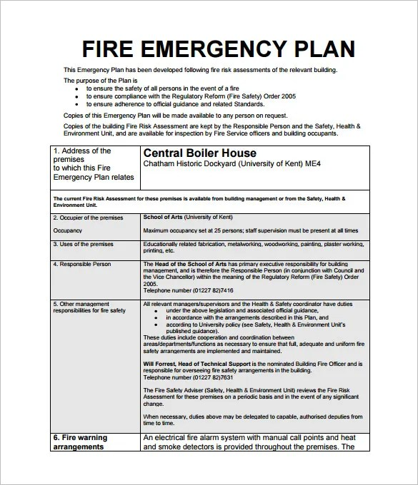 Emergency Action Plan Template - 8+ Free Sample, Example, Format