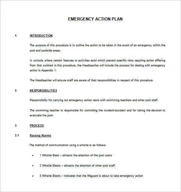 Emergency Action Plan Template - 8+ Free Sample, Example, Format - emergency action plan template