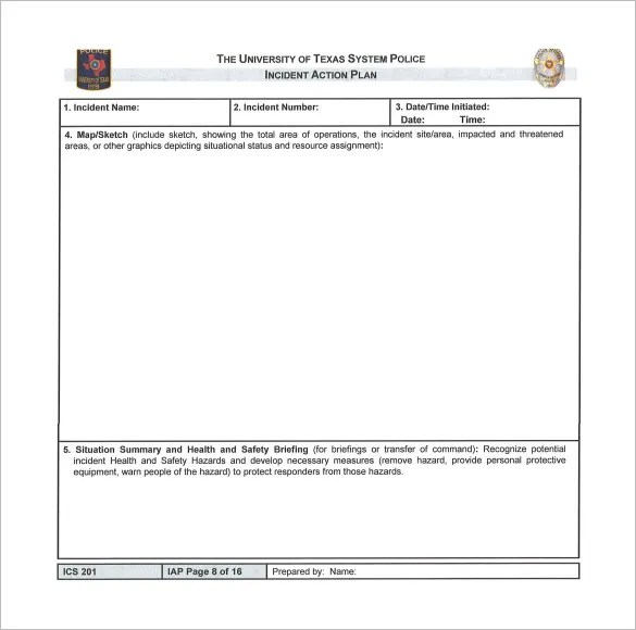 Incident Action Plan Template u2013 7+ Free Sample, Example, Format - incident action plan