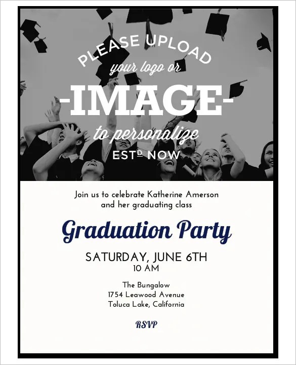 Invitation Template - 42+ Free Printable Word, PDF, PSD, Publisher - free printable invitations graduation
