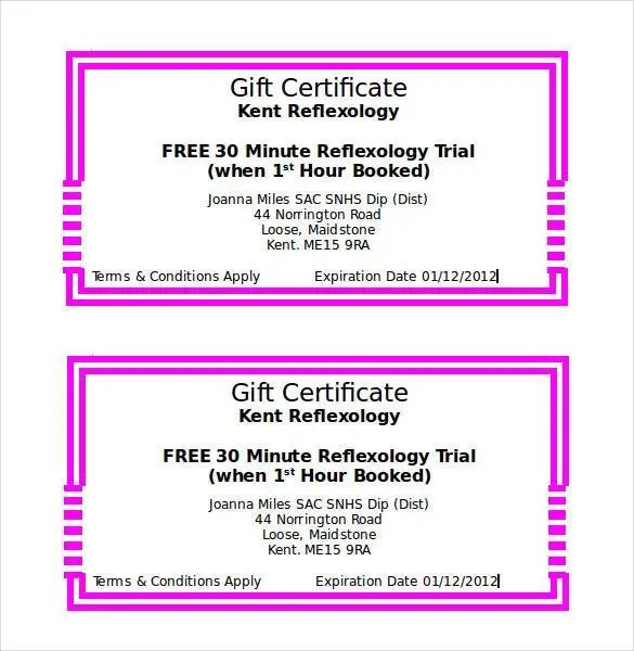 Gift Certificate Template - 42+ Examples in PDF, Word In Design - certificate template doc