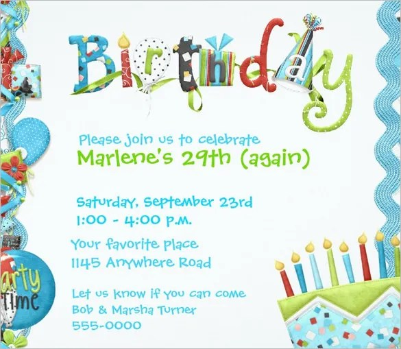 Download Adult Birthday Invitation u2013 orderecigsjuiceinfo - free birthday card template word