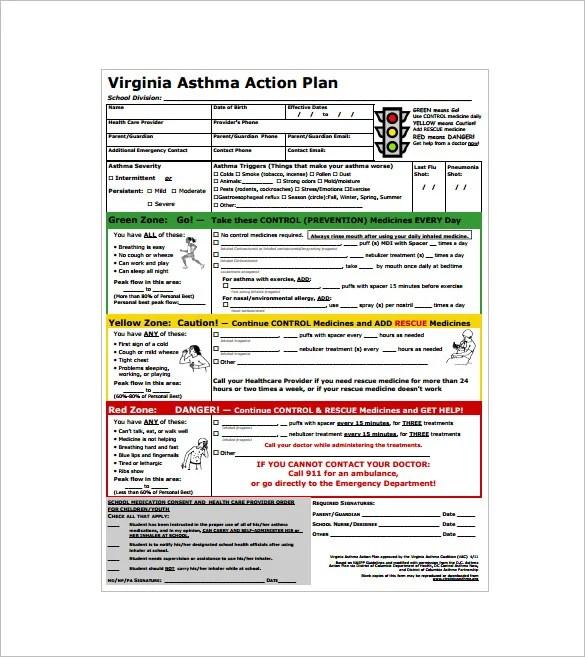 asthma action plan lukex - sample asthma action plan