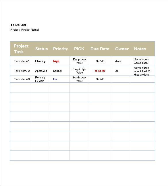 List Templates \u2013 105+ Free Word, Excel, PDF, PSD, Indesign Format - list template free